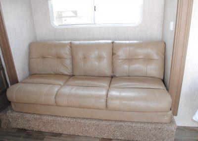 Close up view of sofa.
