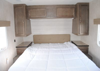 Close up view of bed.