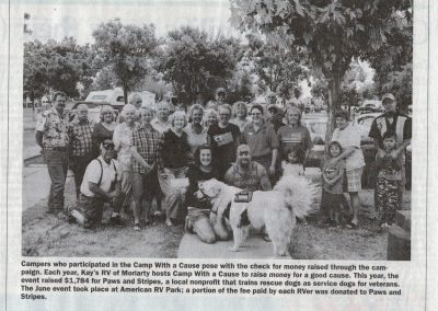 Photo of campers who participated in the Camp With a Cause