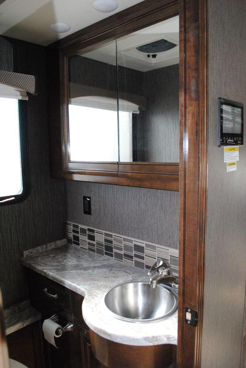 Bathroom interior with sink