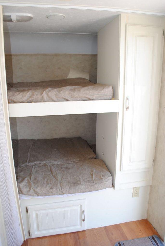 Bunk bed sleeping area.