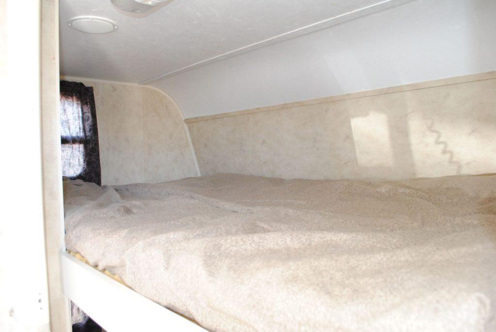 Top bunk bed.
