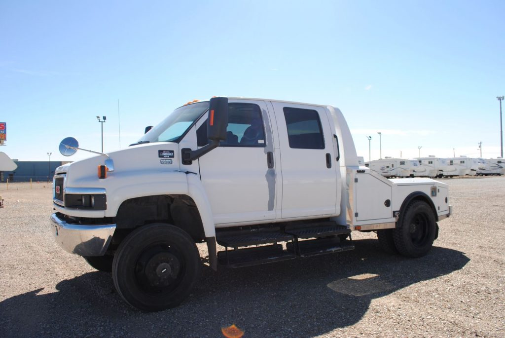 Driver side view of external of truck