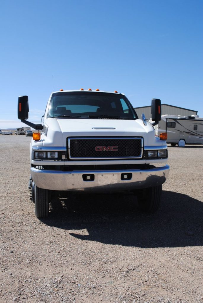 External front view of truck