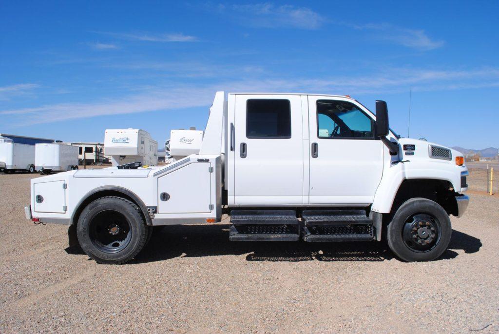 External passenger side view of truck