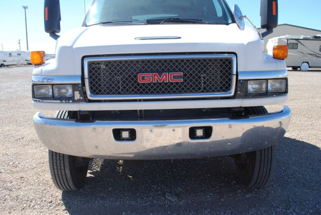 External closeup of the front of the truck