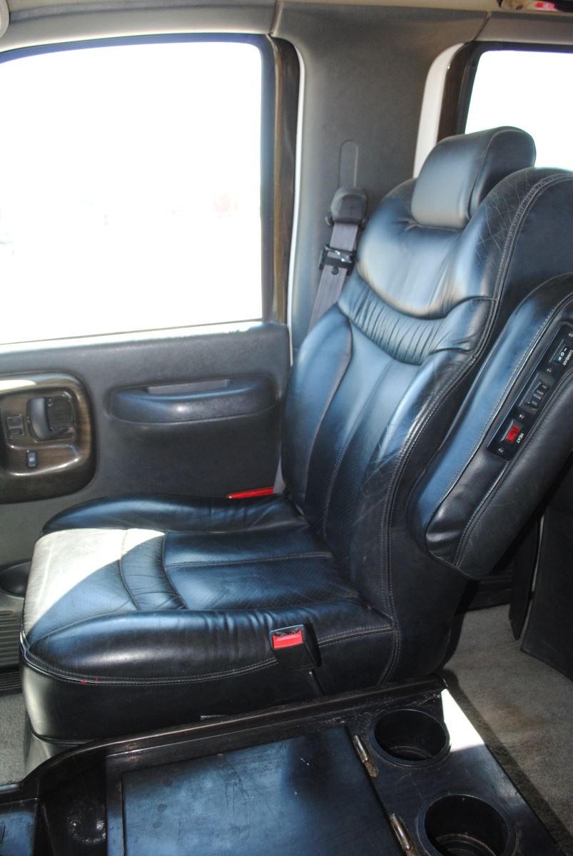 Closeup of the passenger seat