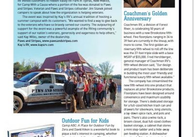 Article - RV Dealer Helps Paws and Stripes